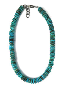 "Turquoise Bead Necklace 17"" with Extender (NK4699)"