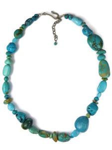 Chunky Turquoise Bead Necklace (NK4700)