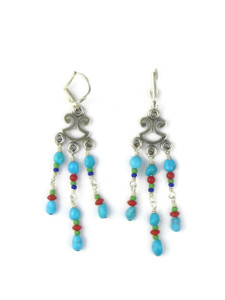 Turquoise Gemstone Beaded Earrings (ER5445)