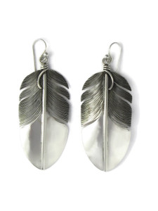 Sterling Silver Feather Earrings by Lena Platero (ER5465)
