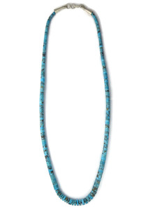 "Turquoise Heishi Necklace 22"" by Ronald Chavez (NK4721)"