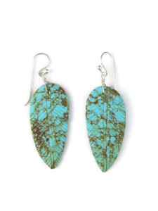Turquoise Feather Slab Earrings (ER5489)