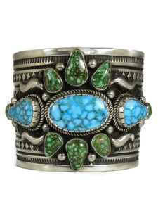 Kingman & Sonoran Turquoise Cuff Bracelet by Albert Jake (BR7010)