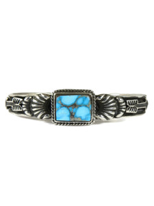 Royston Turquoise Bracelet with Arrows by Tsosie White (BR7020)