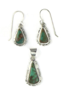 Manassa Turquoise Earring & Pendant Set by Larry Yazzie (PD4432)