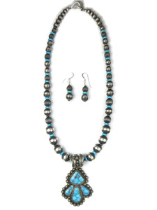 Kingman Turquoise Necklace Set by Happy Piaso (NK4725)