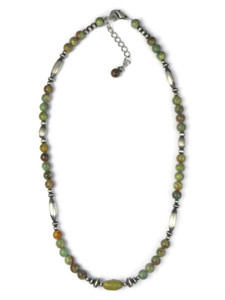 Green Emerald Valley Turquoise Bead Necklace (NK4730)