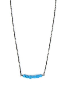Small Turquoise Bar Necklace (NK4741)