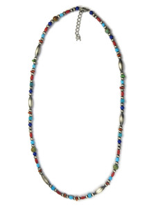 Multi Gemstone Beaded Necklace (NK4743)