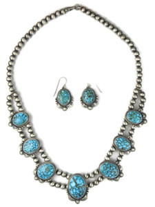 Kingman Turquoise Necklace Set by Randy Boyd (NK4751)