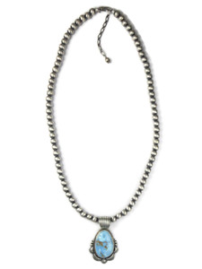 Golden Hills Turquoise Necklace by Randy Boyd (NK4753)