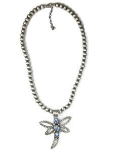 Golden Hills Turquoise Dragonfly Necklace (NK4754)