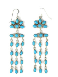 "Sleeping Beauty Turquoise Chandelier Earrings 4"" (ER5014)"