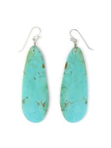"""Turquoise Slab Earrings 3"""" (ER5034)"""