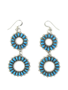 Turquoise Petit Point Dangle Earrings by Milburn Dishta (ER5570)