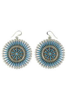 Turquoise Needle Point Cluster Earrings by Iva Booqua (ER5592)