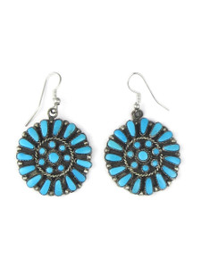 Turquoise Petit Point Cluster Earrings (ER5593)