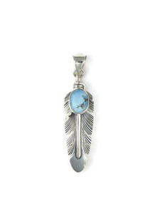 Golden Hills Turquoise Feather Pendant (PD4262)