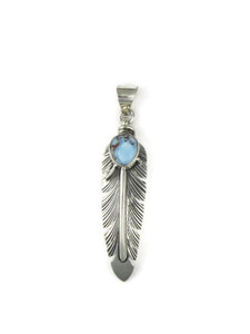 Golden Hills Turquoise Feather Pendant (PD4263)