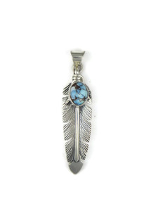 Golden Hills Turquoise Feather Pendant (PD4264)