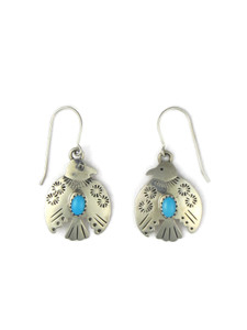 Sleeping Beauty Turquoise Thunderbird Earrings (ER5602)