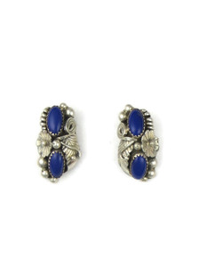 Vintage Lapis Post Earrings (ER5616)