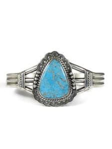 Kingman Turquoise Bracelet by John Nelson (BR6317)