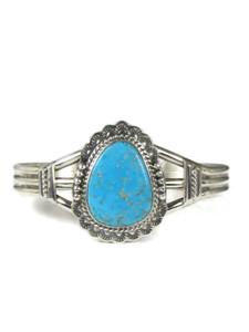 Kingman Turquoise Bracelet by John Nelson (BR6318)