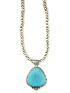 Kingman Turquoise Pendant Necklace by Lucy Jake (NK4759)