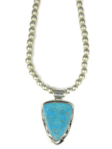 Kingman Turquoise Arrow Pendant Necklace by Phillilp Sanchez (NK4760)