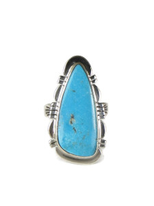 Kingman Turquoise Ring Size 8 by Phillip Sanchez (RG5089)