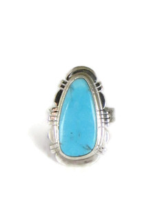 Kingman Turquoise Ring Size 6 1/2 by Phillip Sanchez (RG5090)