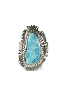 White Water Turquoise Ring Size 7 by Bennie Ration (RG5093)