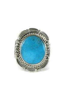Kingman Turquoise Ring Size 10 1/2 by Bennie Ration (RG5094)