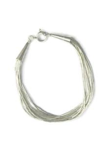 "10 Strand Liquid Silver Bracelet 6 1/4"" - Small"