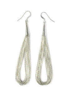 "10 Strand Liquid Silver Earrings 3 1/2"" (LSER10-3.5)"