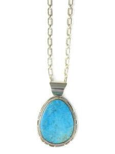 Kingman Turquoise Pendant by Larson Lee (PD4268)