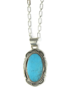 Kingman Turquoise Pendant by Cecil Atencio (PD4270)