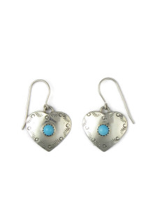 Sleeping Beauty Turquoise Heart Earrings (ER5621)