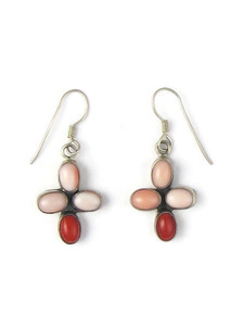 Coral Cross Earrings (ER5627)