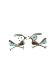 Roadrunner Inlay Post Earrings (ER5632)