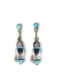 Maiden Inlay Earrings - Zuni (ER5634)