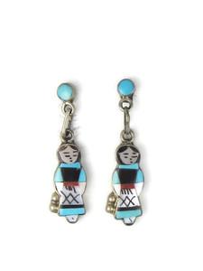 Maiden Inlay Earrings - Zuni (ER5634)