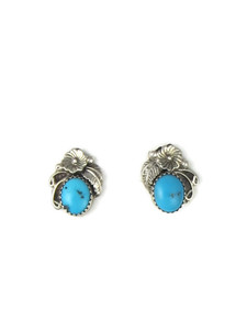 Turquoise Flower Post Earrings (ER5642)