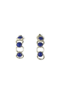 Lapis Half Hoop Earrings (ER5648)