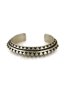Silver Cuff Bracelet by LeAnder Tahe (BR6327)