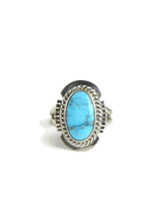 Kingman Turquoise Ring Size 5 by Larson Lee (RG5099)