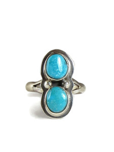 Blue Bird Turquoise Ring Size 8 (RG5103)