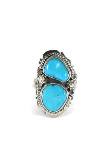 Sleeping Beauty Turquoise Ring Size 5 1/2 by Lucy Jake (RG5105)
