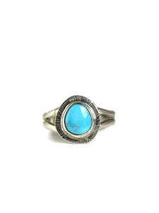 Kingman Turquoise Ring Size 5 by Lyle Piaso (RG5112)